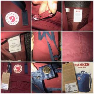 Classic Kanken 16L Ox red-Royal blue
