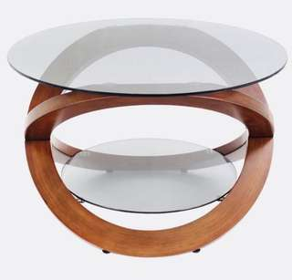 Baxter Modern Life Duel glass high end table ( NEW)