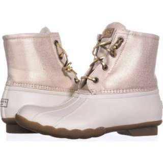 Sperry saltwater boots 7.5 oat/gold