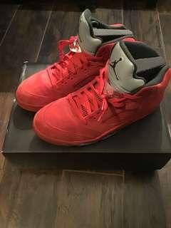 Jordan Red Suede 5 size 11