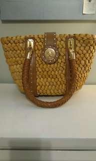 Michael Kors Santorini straw handbag