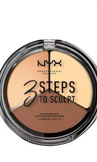 NYX Professional Makeup 3 Steps to Sculpt - Face Sculpting Palette - Light