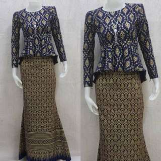 Mini Peplum Songket