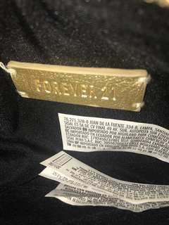 FOREVER 21 GOLD POUCH
