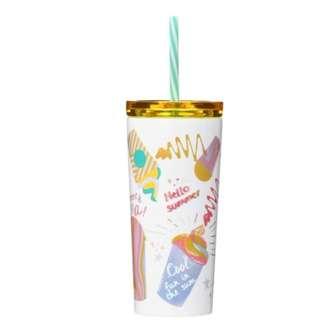期間限定!! 日本 Starbucks 白色不銹鋼冷杯 Frappuccino® 355毫升