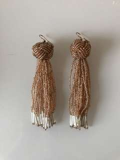 Beautiful bead tassel earrings