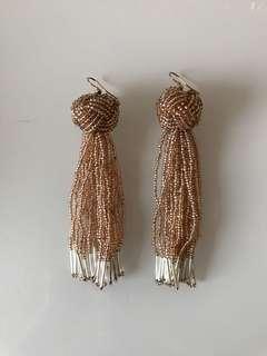 Beautiful bead tassel earrings