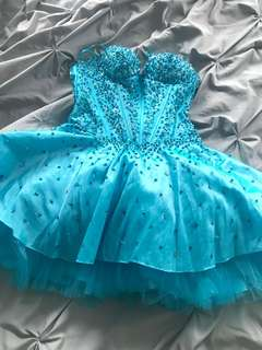 Grad or Prom Blue Dress