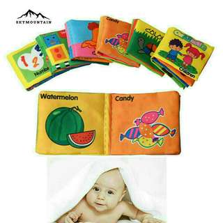 Educational cloth book ON HAND!