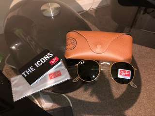 Authentic Ray Ban (RB 3447) Round Metal Sunglasses.