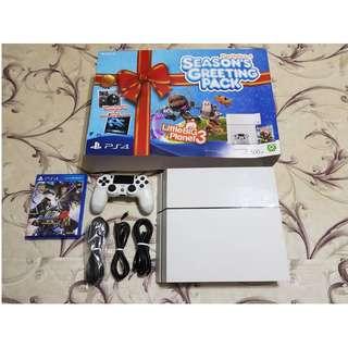 白色PS4 500GB 台灣原廠公司貨+遊戲