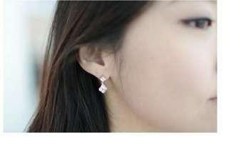 Silver clover earrings/ Pre order korea fashion earring (silver 925 non allergy)