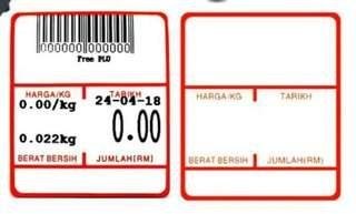 Thermal label roll Harga/Kg