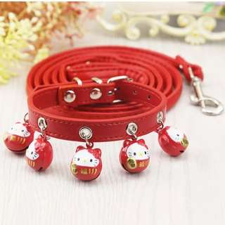 New Pet leash/ collar with bell