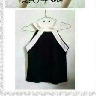 Halter black white top brandnew