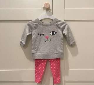 Carter's pants and sweater set