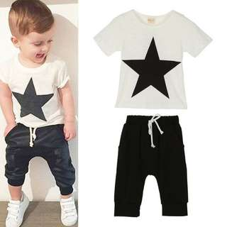 Baju anak laki2 motif bintang