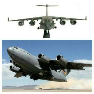 Military combat aircraft plane for souvenir or hobby or education: C17 Globemaster transport aircraft