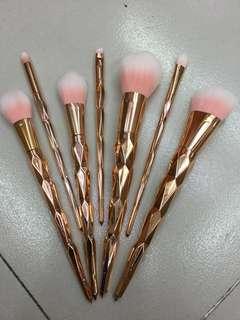 7 pcs Rose Gold Unicorn Brush