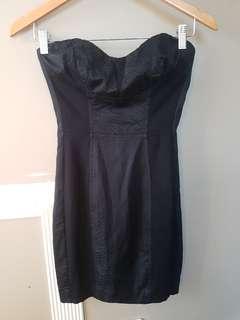 BEBE black bodycon bustier dress