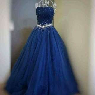 Instock navy blue evening gown