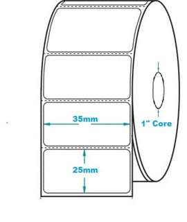 Thermal Label Roll Barcode Sticker 35x25 2000pcs