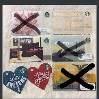 Various Starbucks Cards