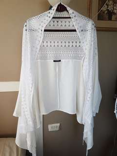 LOVFEE WHITE LACE COVER UP