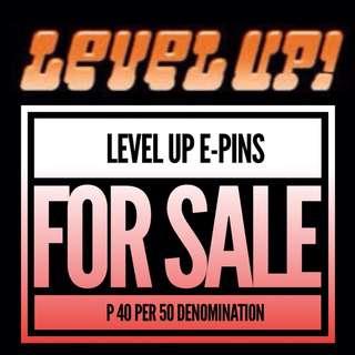 Level Up E-Pins 50 Denomination