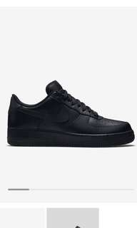 Black Nike AF1 (Used, Just Cleaned)