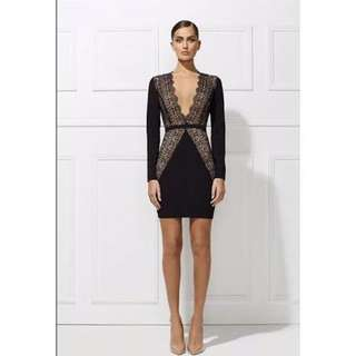 Misha Collection Paulina Plunge Dress