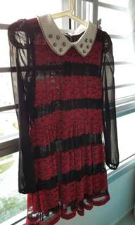 Classic black and red dress