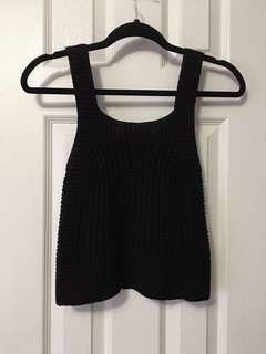 XXS black Wilfred Caumont knit sweater top