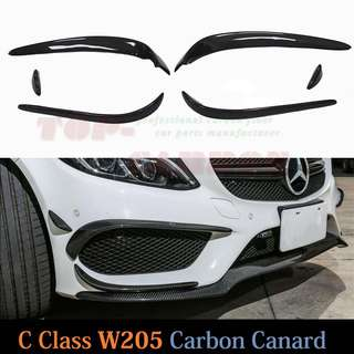 Mercedes Carbon Fiber Carnards C200 W205