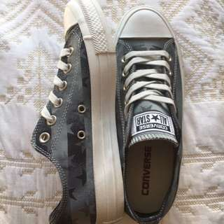NEW All Star Converse With Grey Star Pattern