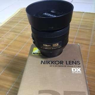 Nikkor 35mm f1.8 G