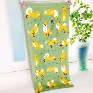 🆕 可愛 柴犬 🐕 洗面巾 毛巾 運動巾 $69 包平郵
