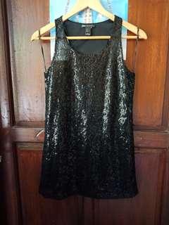 NEW!!Mango Black Sequined Dress