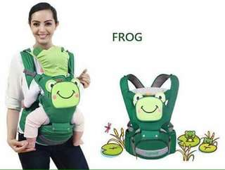 Mambo 4 in 1 Hip Seat Baby Carrier - FROG