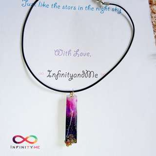 🆕 Handmade Galaxy Star Pendant Necklace : Galaxy #2 with  black cord / stainless steel chain / silver / gold chain