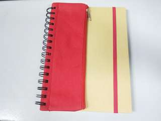 Notebook with pencil case