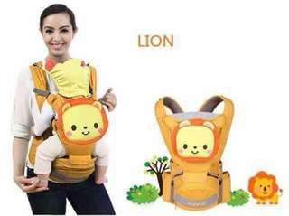 Mambo 4 in 1 Hip Seat Baby Carrier - LION