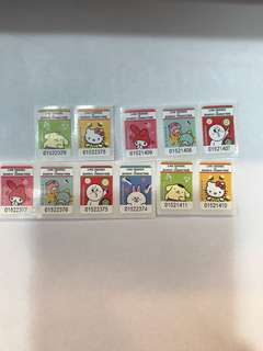 7-11 LINE FRIENDS X SANRIO CHARACTERS Stamps