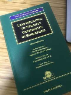 Law relating to specific contracts in Singapore 2nd Edition (Sweet & Maxwell)