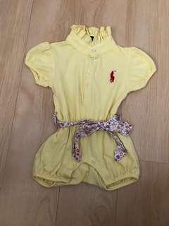 二手鵝黃色連身短褲