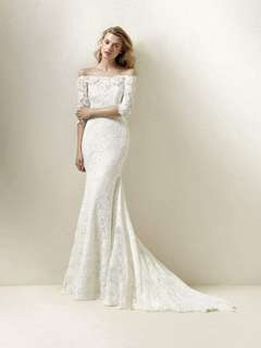 Custom made - off the shoulder full lace mermaid dress with sleeve