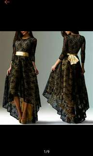 Floral Lace Long Dress Cocktail Party Evening Formal Prom