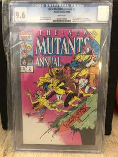 New Mutants Annual #2 CGC 9.6 First Appearance of Psylocke