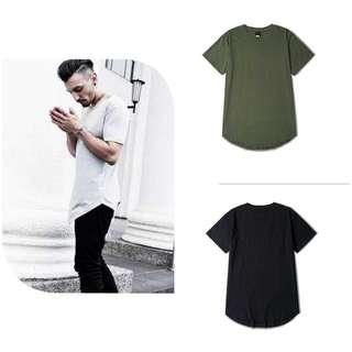 (8 Colours) Basic Longline Loose Fit Tshirt