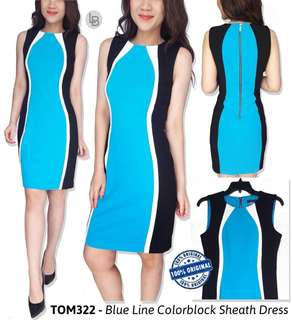 Tommy hilfiger blue line colorblock sheath dress